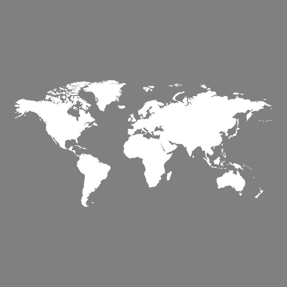 World Map Wall Sticker Atlas Adesivo Art disponibile in 5 ...