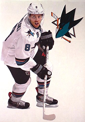 (Joe Pavelski Mini FATHEAD San Jose Sharks Logo Official NHL Vinyl Wall Graphics 7