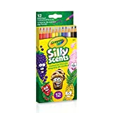 Crayola Silly Scents Coloured Pencils, 12 ct Pencil Crayons,  Gifting
