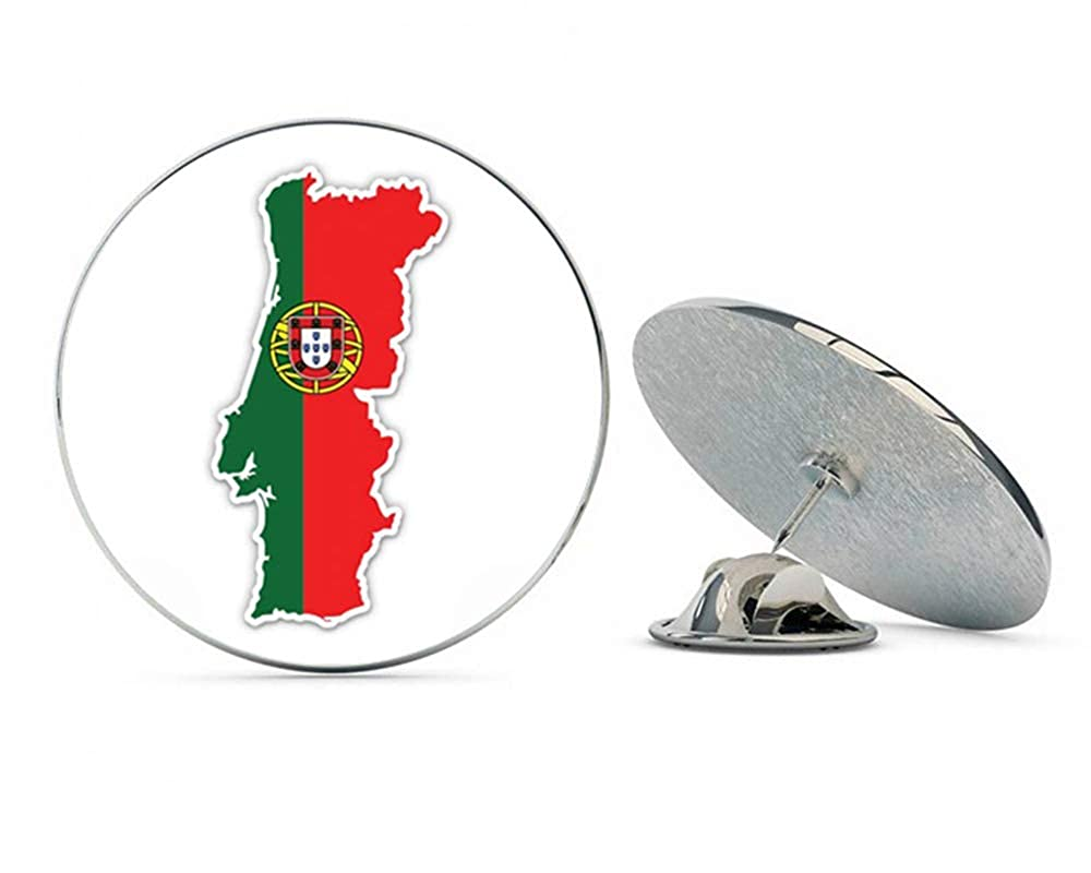 NYC Jewelers Portugal Map Flag Country Shape Metal 0.75 Lapel Hat Pin Tie Tack Pinback
