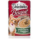 HARTZ Delectables Lickable Bisque Tuna & Veggies, Pack of 12