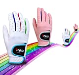 PGM Microsuede Junior Golf Gloves Microfiber Golf Gloves for Kids Chilren Non-slip Abrasion Breathable Pack of 1 Pair
