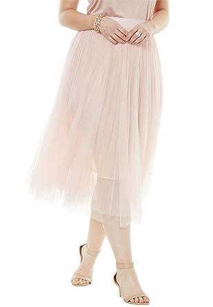 Roamans Women\'s Plus Size Ballerina Tulle Skirt at Amazon Women\'s ...