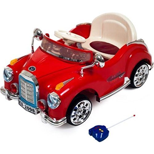 Easy To Ride Remote Control Ride-On Toy Classic Red Car