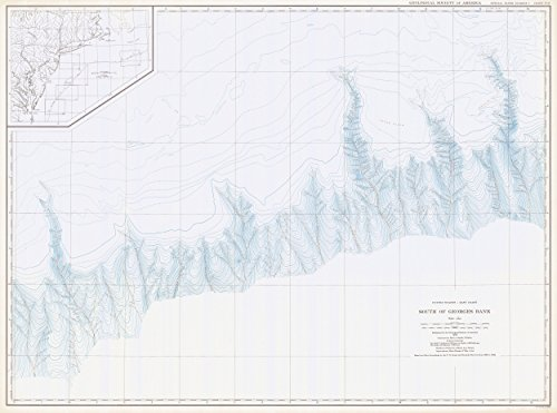 Vintography 24 X 36 Giclee Print Nautical Map Image United States   East Coast South Georges Bank 1939 Noaa 53A