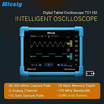 Micsig Digital Tablet Storage Oscilloscope 150 MHz 2CH TO1152