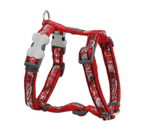 Red Dingo Designer Dog Harness, Small, Bandana Red