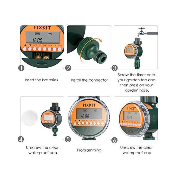 FIXKIT Programmatore di Irrigazione,Timer Irrigazione Automatico con LED Display, Elettrovalvola Irrigazione Giardino… 3 spesavip