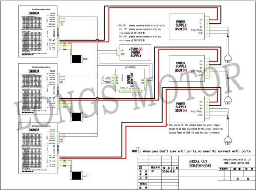 51a9zb9v6vL 3 axis nema 34 stepper motor 1600 oz in & driver dm860a cnc router dm860a wiring diagram at mifinder.co