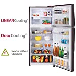 LG 437 L 2 Star Inverter Frost-Free Double Door Refrigerator (GL-T432FRS2, Russet Sheen)
