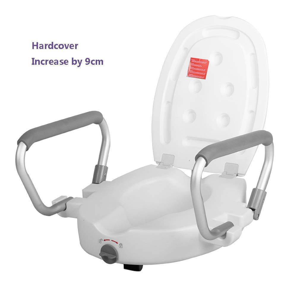 Älterer Toilettensitz der Beweglichen Beweglichen Toilette Behinderte Schwangere Frauen Postoperativ mit Armlehnenuniversalerhöhungsauflage,A