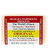 dead sea salt products - Dead Sea Warehouse - Amazing Minerals Original Face & Body Soap Bar, Soothing Dead Sea Salt Supports Clear & Healthy Skin, Great for All Skin Types, Sensitive Skin Friendly (Unscented, 5.2 Ounces)