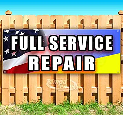 Full Service Repair cartel de vinilo resistente de 13 onzas ...