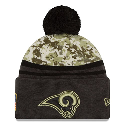 New Era Hat Los Angeles Rams NFL Salute to Service Official Team Color Knit Beanie by New Era