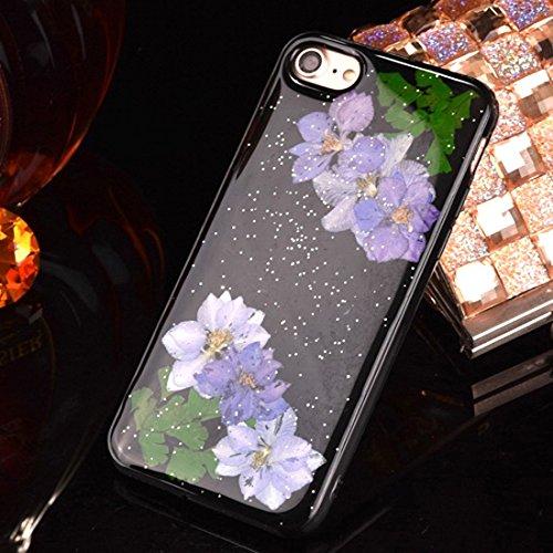 MXNET IPhone 7 Plus Fall, gepresste reale getrocknete Blume weiche TPU schützende Fall-rückseitige Abdeckung CASE FÜR IPHONE 7 PLUS ( SKU : Ip7p2295j )