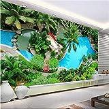 Xbwy Custom 3D Photo Wallpaper Livingroom Mural 3D Visual Beauty Ocean Park Hd Photo Sofa Tv Background Wall Non-Woven Room Wallpaper-350X250Cm