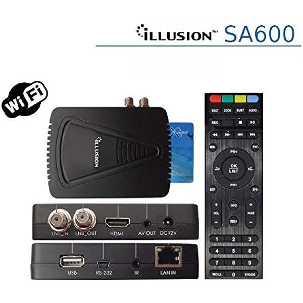 Illusion - Sa600 con conexión ethernet y WiFi, Alta definición (HD ...