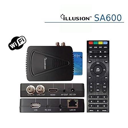 Illusion - Sa600 con conexión ethernet y WiFi, Alta definición (HD)