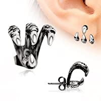 """""""Trident Triple"""" Claw Earring 316L Stainless Steel"""