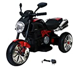 GetBest Little Rider Ride on Battery Operated Bike for Kids with Suspension, Red