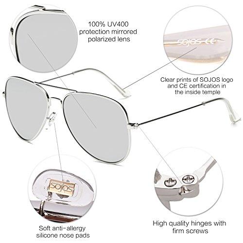 c03d98591f9 SOJOS Classic Aviator Polarized Sunglasses Mirrored UV400 Lens - Import It  All