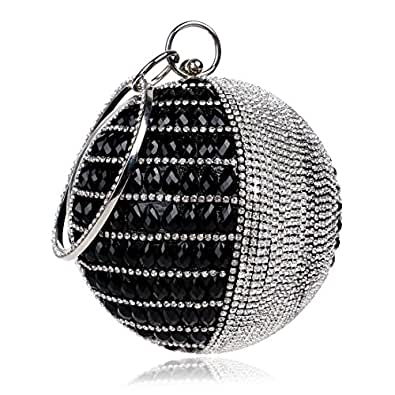 Amazon.com: Flada Women's Round Shape Purse Rhinestone