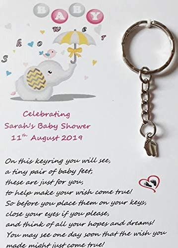 6 colours available Smiling foot keyring
