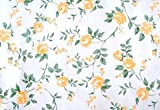 Yellow Peony Paper Shelf Drawer Liner Wallpaper