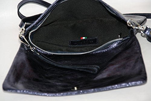 Italy blue M2115 Style Pochette Femmes Sac cuir en bandoulière Enveloppe Portefeuille zqRnvRTO