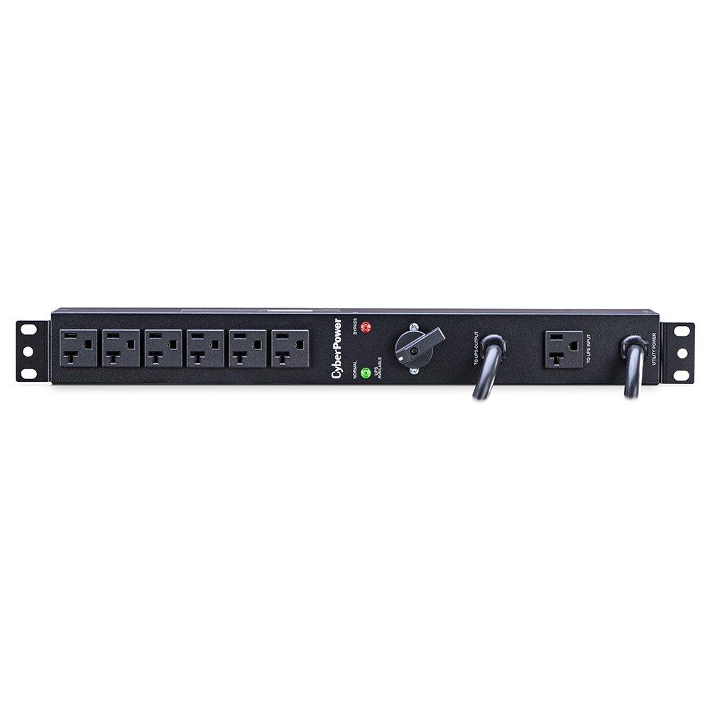 CyberPower MBP20A6 Maintenance Bypass PDU, 120V/20A, 6 Outlets, 1U Rackmount