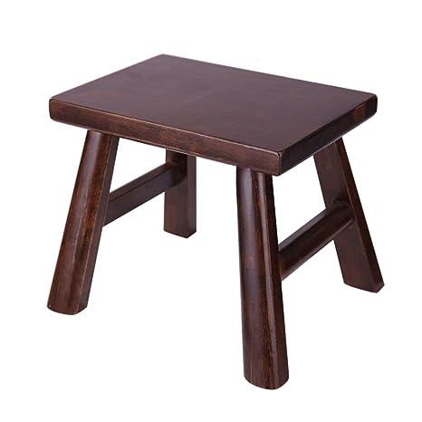 Amazon.com: ZHANGQIANG - Taburete cuadrado de madera para ...