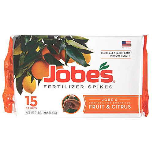 Tree Fertilizer Spikes - Jobe's Fruit and Citrus Tree Fertilizer Spikes, 15 Pack