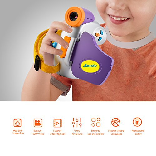 Digital Video Camera for Kids, AMKOV Kids Camcorder, 1.44 Inch Full-Color TFT Display Kids Camera by AMKOV (Image #3)