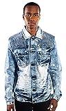 Barabas Snow Gold Leaf Blue Jacket, XX Large
