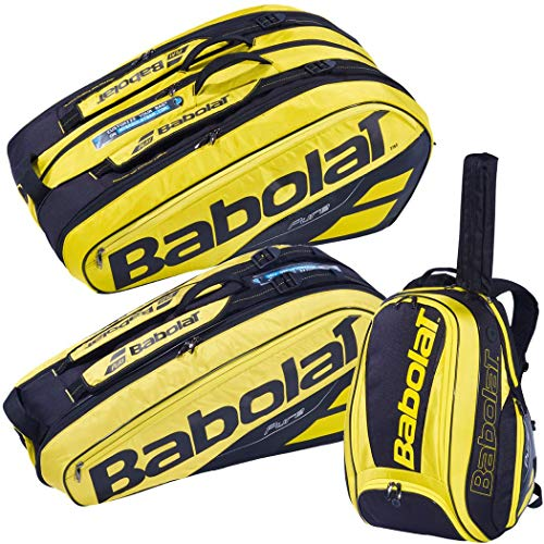Babolat Pure Aero Black/Yellow Tennis Backpack