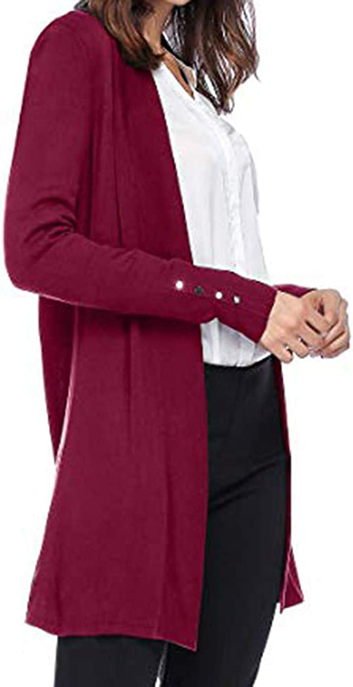 Cardigan Sweaters for Women,Open Front Knit Cardigans for Women Lightweight Cover-up Long Sleeve Cardigan Sweaters