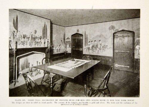 Vintage Gesso (1926 Print Frances Burr Gesso Wall Decorations Interior Design Frances Burr Room - Original Halftone)