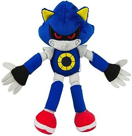 Amazon Com Sonic The Hedgehog 8 Inch Metal Sonic Boom Sonic Plush