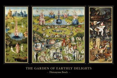 Lámina El jardín de las delicias, ca. 1504, de Hieronymus Bosch, Tamaño: 91 x 61 cm: Amazon.es: Hogar