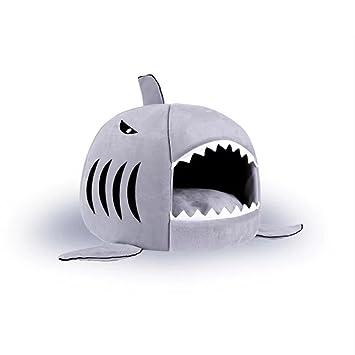 Desconocido Cojín para Perro, Cama para Cachorro, Almohada para Perro, sofá para Perro, cestas de tiburón Cama para Gato pequeño Perro Cueva Cama: ...