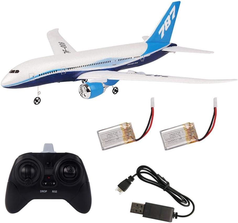 seraphicar Avión de Control Remoto, DIY EPP Foam 2.4G 3 Canales de Control Remoto de Aviones, RC Drone Boeing 787 Modelo
