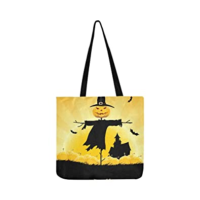Amazon.com  Halloween Party Background With House Scarecrow Pu ... 85be9c0be