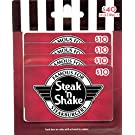 Steak 'n Shake Gift Cards, Multipack of 4 - $10