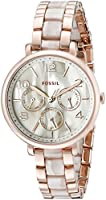 Fossil Jacqueline Multifunction Stainless Steel and Acetate Watch