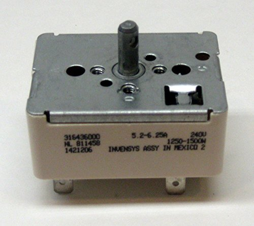 316436000 - Frigidaire Stove/Oven/Range Surface Element Infinite Switch Replaces AP3890378. PS114503