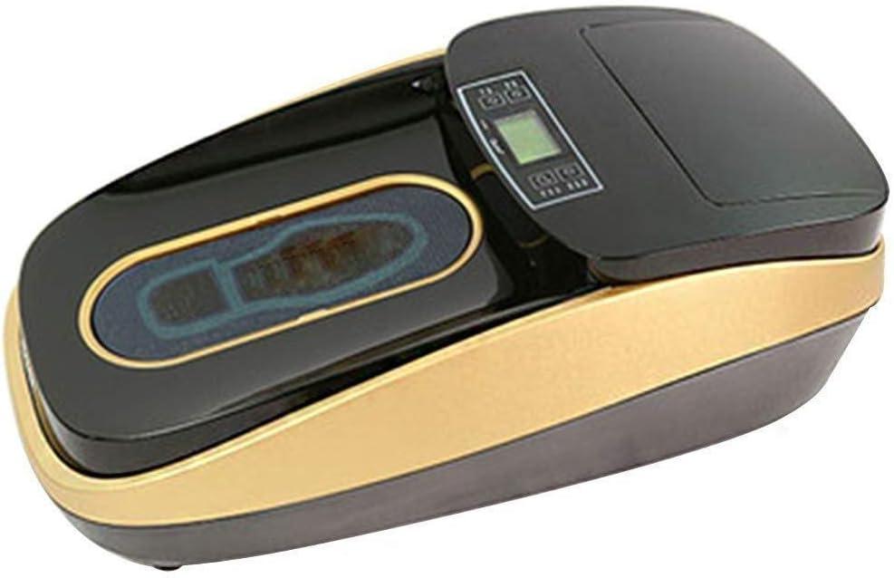 JJL Zapatos automáticos Cubierta de la máquina for el hogar/Zapatilla Inteligente Máquina de película, Pantalla LED del Encogimiento del Calor de Funciones, Reutilizable (Color : Gold)