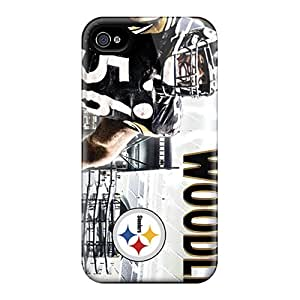 WAWOCASE Premium Protective Hard Case For Iphone 4/4s- Nice Design - Pittsburgh Steelers