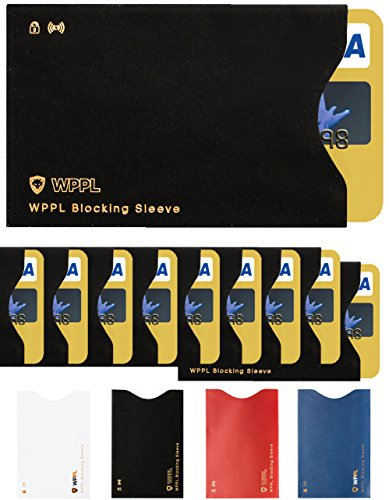 RFID Sleeves Credit Card Sleeve - Credit Card Protector Sleeves Blocks Credit Cards Transfer of Data Protecting Against Thieves Electronic Pickpocketing - Black RFID Credit Card Sleeves