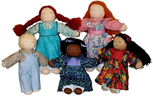 Customizable 16'' Waldorf Doll Kit with One Ply Yarn Hair by Weir Dolls & Crafts