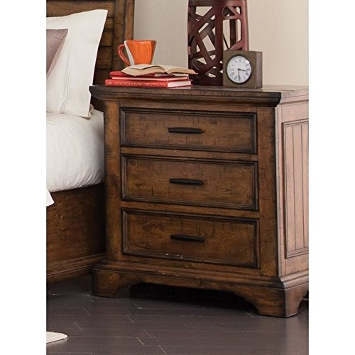 Coaster Home Furnishings Elk Grove Nightstand with Wire Cord Vintage Bourbon For Sale